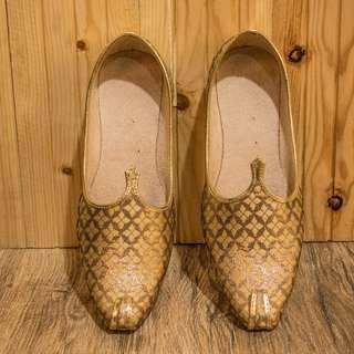 Gold Indian Shoes