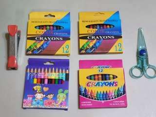 🚚 FREE TO TAKE! Crayons, colour pencils, scissors