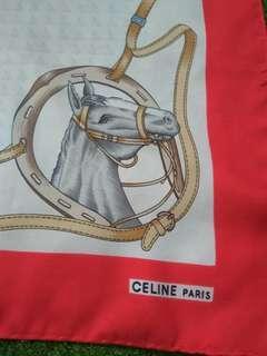 Authentic Celine Paris Silk Scarf