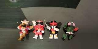 Banpresto 眼鏡廠 SD 幪面超人舊1號 變身忍者嵐 五色戰隊紅勇士 佐丹依比路 石森章太郎特攝角色