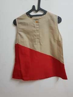 Zigzag red khakis