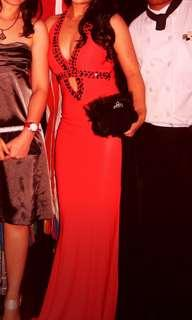 For rent : Deep V sexy red evening dress gown