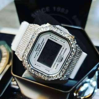 Dw5600 casio bling watch