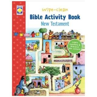 Wipe-Clean Bible Activity Book - New Testament