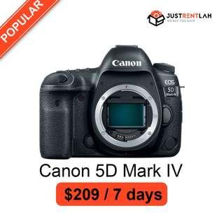 [RENT] Canon EOS 5D Mark IV DSLR Camera (Body Only)