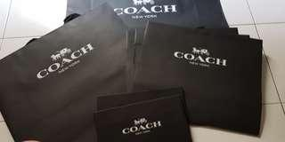🚚 BRAND NEW AUTHENTIC COACH paper bags, boxes