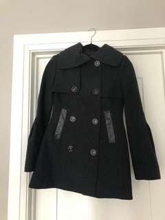 Mackage Dark Grey Wool Coat
