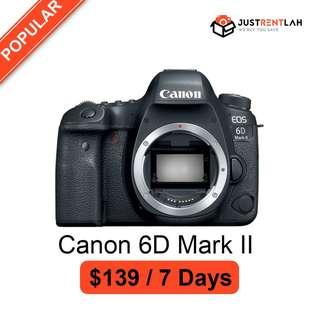 [RENT] Canon EOS 6D Mark II DSLR (Body Only)