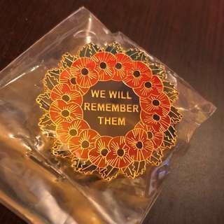 虞美人花襟章 Poppies Remembrance Pin Badges - 英國入口