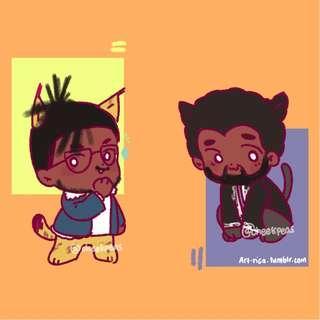 Black Panther glitter epoxy charms