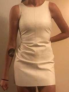 Mink Pink Leather Look White Dress