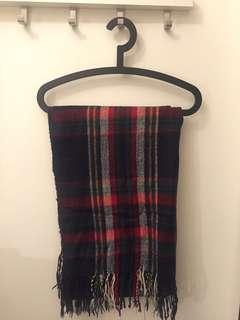 格仔頸巾checked scarf