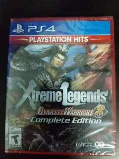 PS4 Game Dynasty warriors 8 Xtreme Legends Complete Edition (New)