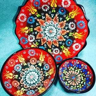 Turkey土耳其手工陶碗