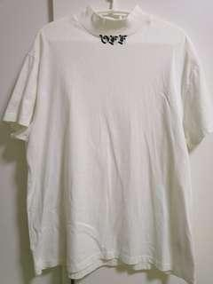 Off White Mock neck Tee (white) RARE***