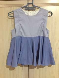 LilyPirates blue stripes babydoll top