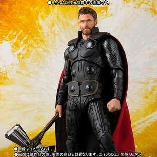 全新現貨 Bandai SHF 雷神 索爾 Thor 托爾 無限之戰 Avengers 3 Infinity War S.H.F. 萬代正品