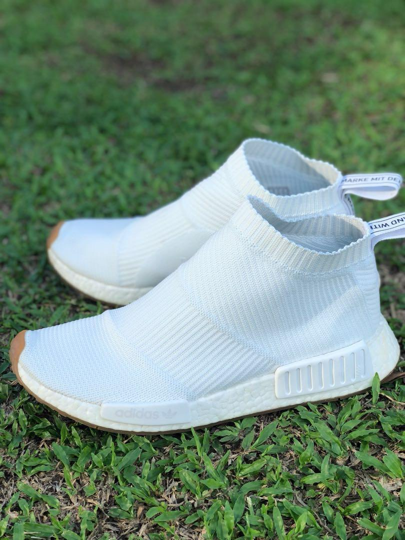 new arrival 4c2af 3f717 Adidas TRIPLE WHITE NMD City Sock 1 on Carousell