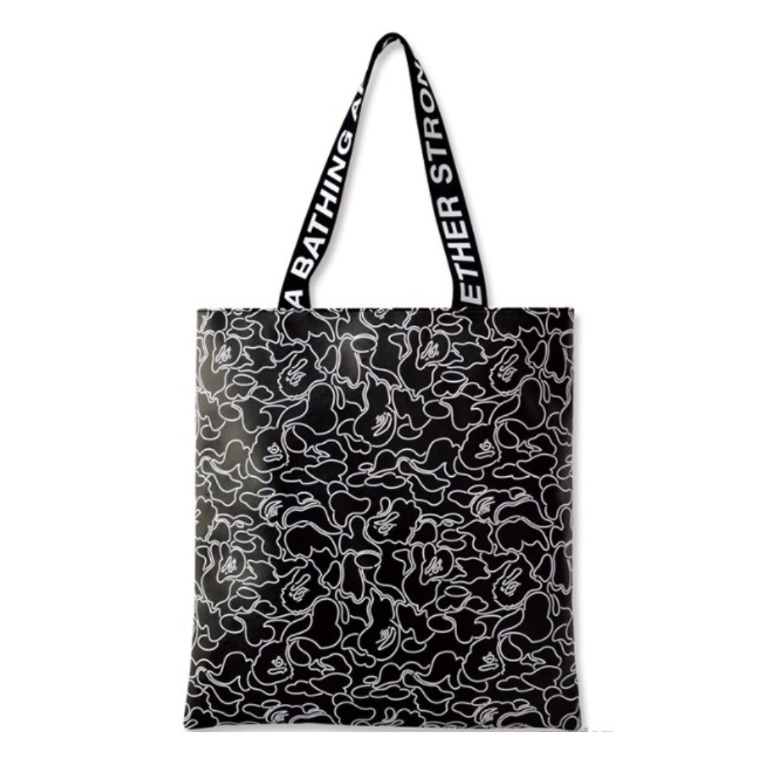eb3c9c4649 Instock! Bape A Bathing Ape ABC NEON CAMO Tote Bag (Black   White ...
