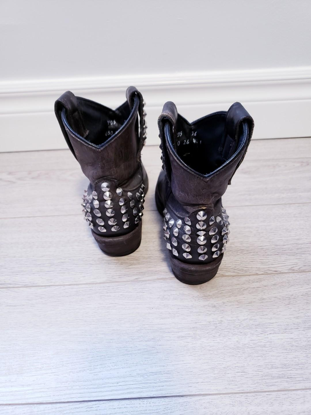 Ash Studded Booties Size 6
