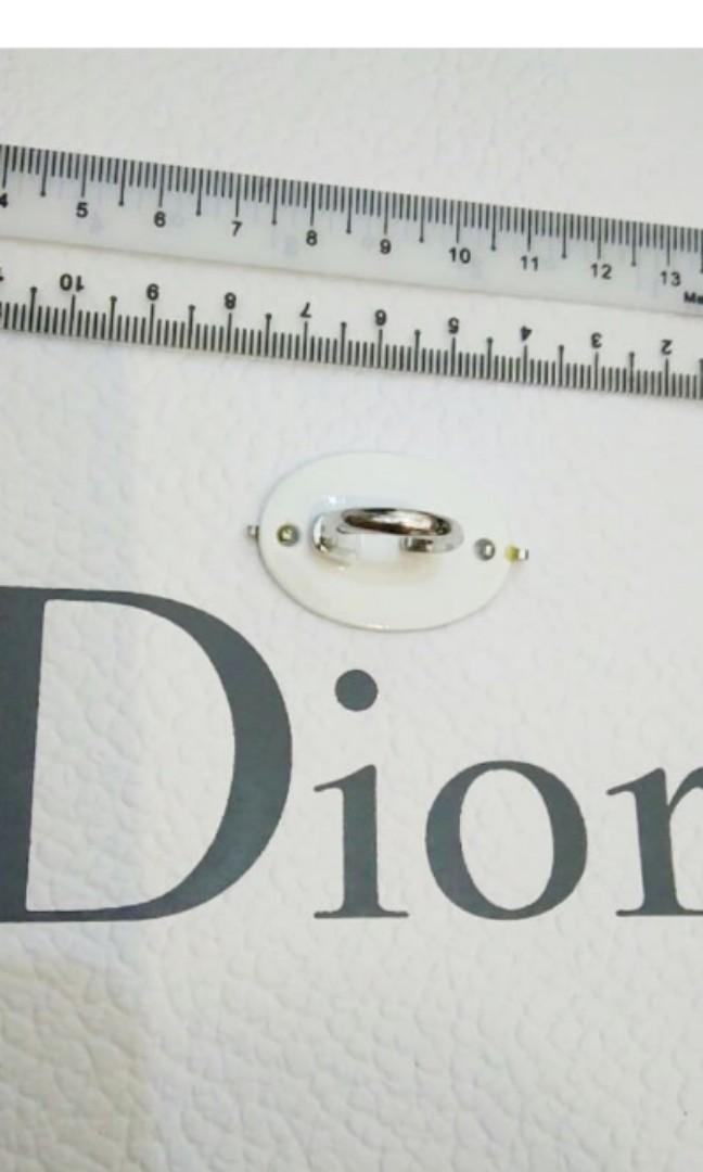 """AUTHENTIC DIOR """"JADORE / JADIOR DIOR"""" LOGO RING - ENAMEL - EXCELLENT CONDITION - FREE SIZE - ADJUSTABLE SILVER RING BAND - (BOUGHT OVER RM 1000+) - RM 99 ONLY"""