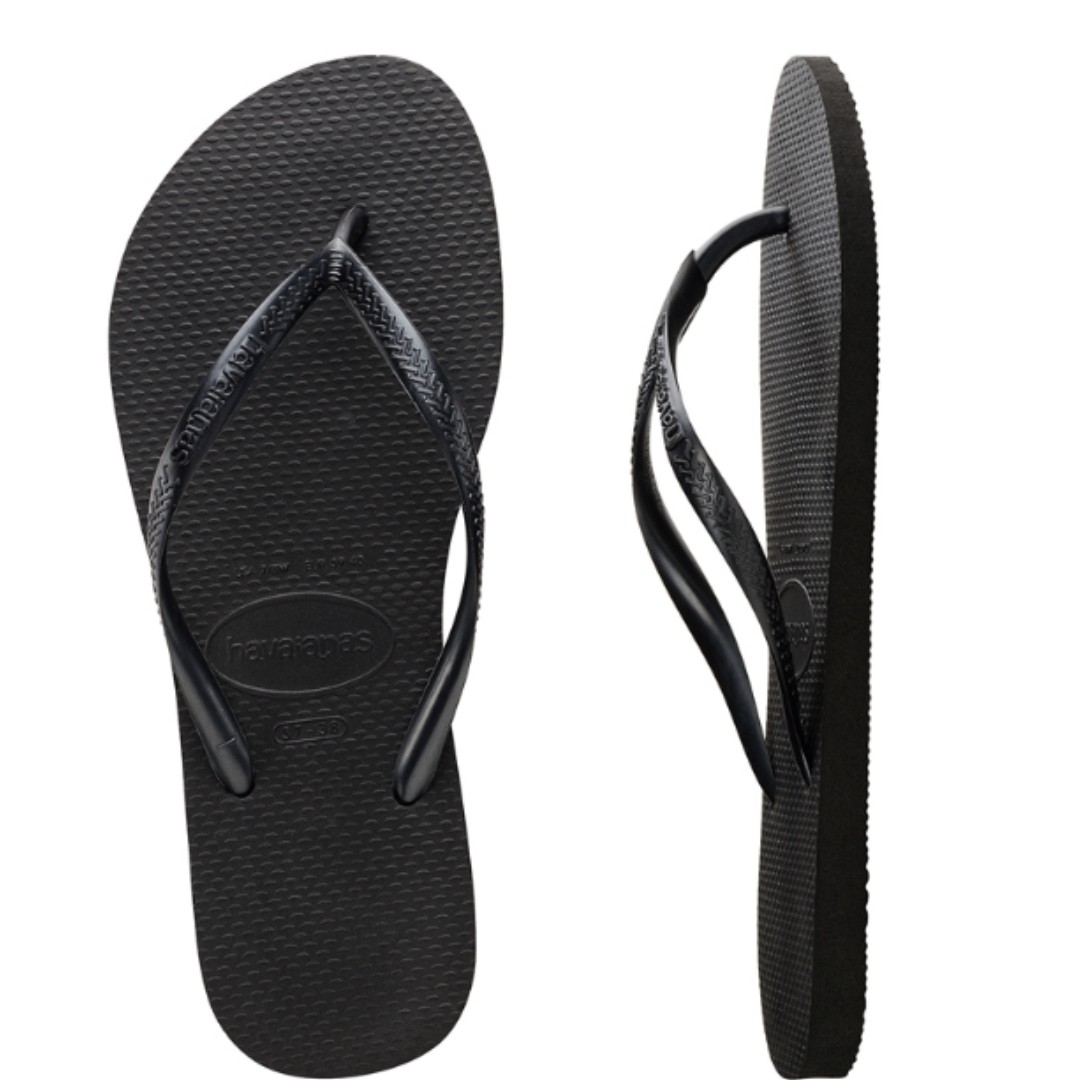 668e0053d7a688 AUTHENTIC* HAVAIANAS SLIPPERS - WOMEN (SLIM) Black, Women's Fashion ...