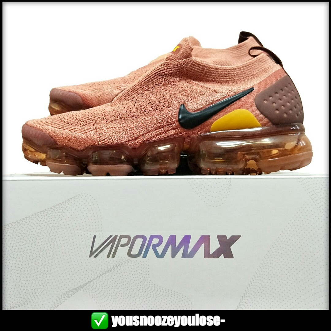 5c9f70cc116 🌊AUTHENTIC🌊 NIKE AIR VAPORMAX FLYKNIT MOC 2 TERRA BLUSH   RED ...