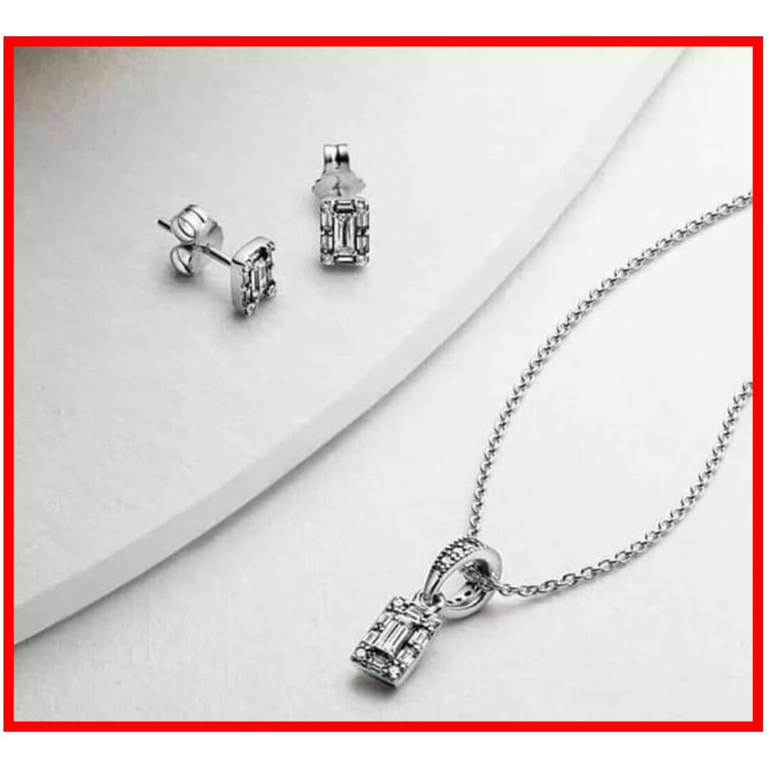 fe110ee8a Authentic Pandora Necklace and Earring Set Jewelry Set 925 Sterling Silver  Complete Inclusions with Box 1-2 Days Shipping Only with Tracking Number  Free ...