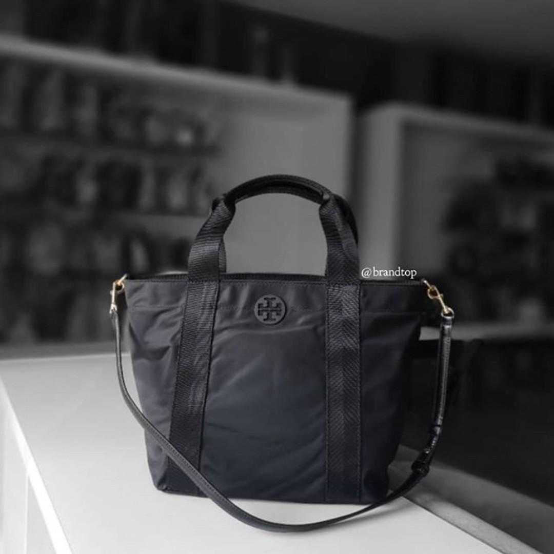 78a5972ca25 Authentic Tory Burch Black Nylon Two Way Bag