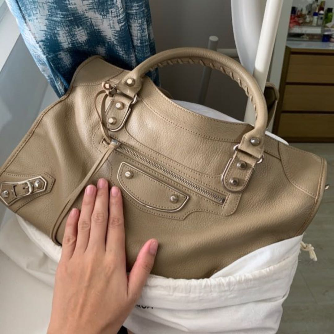 2257cfd5e0 Balenciaga Metallic Edge City - Beige Latte, Luxury, Bags & Wallets ...
