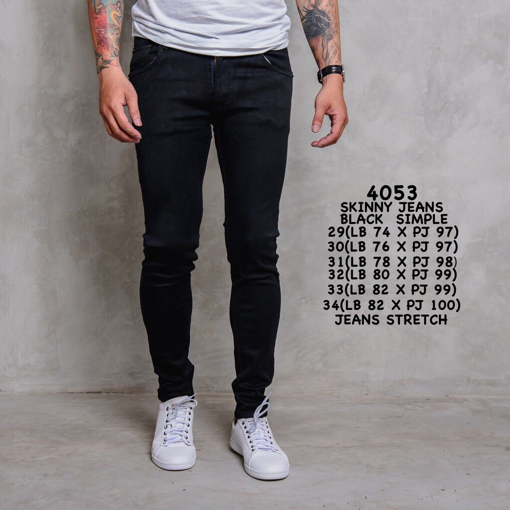 Best Seller Men Skinny Jeans Black Basic Men S Fashion Clothes