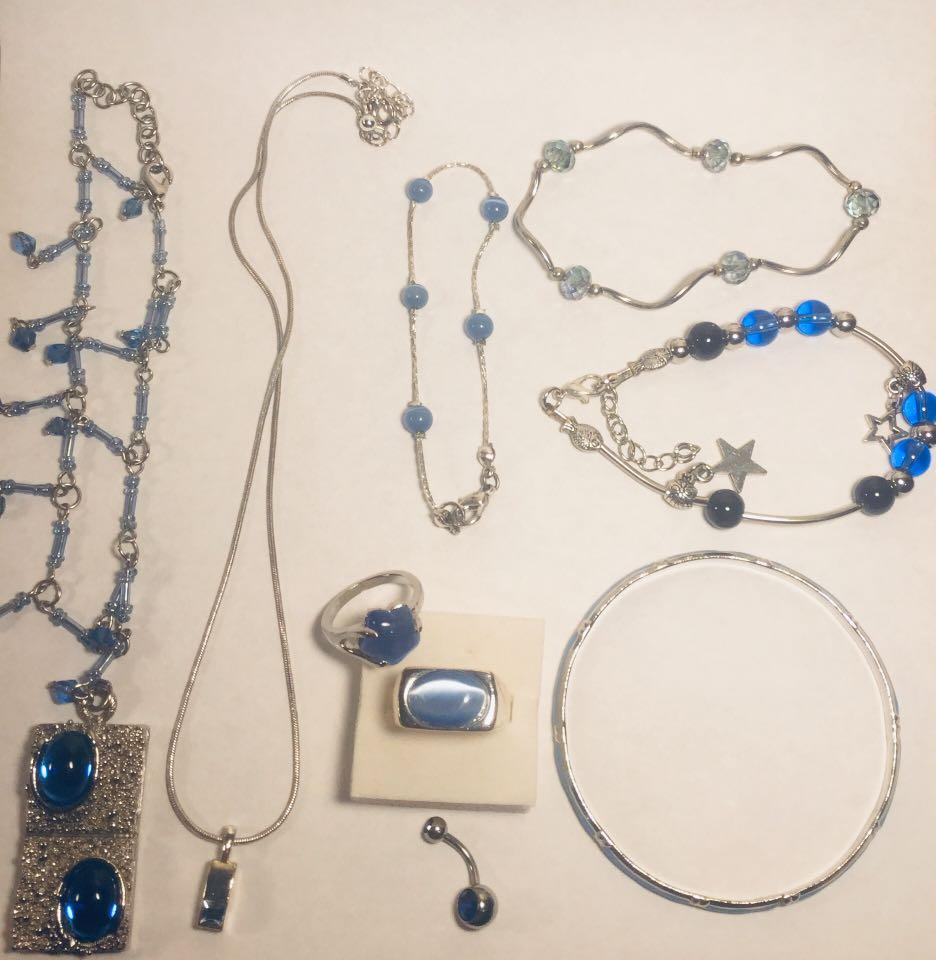 Blue Themed Costume Jewelry