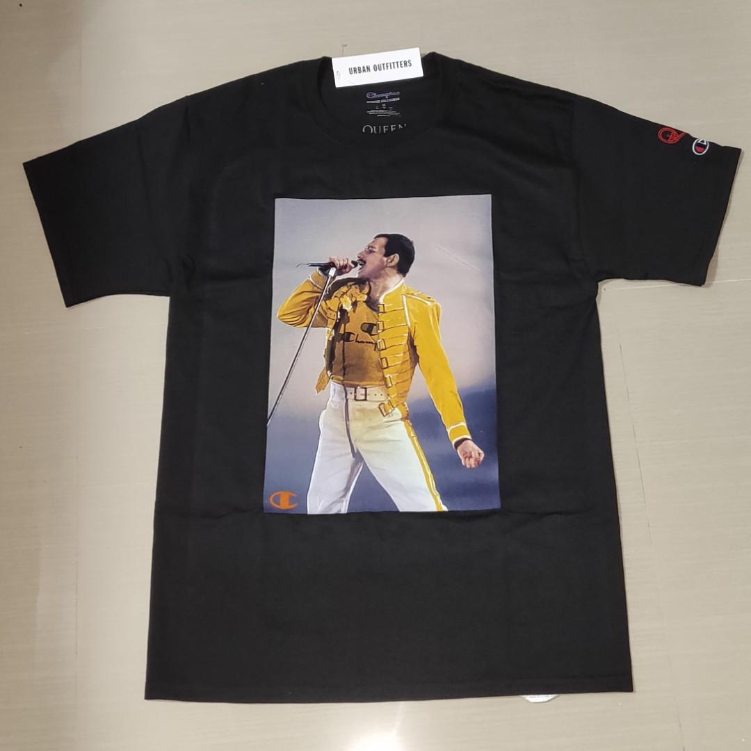 d6faadfd Champion x Queen Freddie Mercury Photo T Shirt, Men's Fashion ...