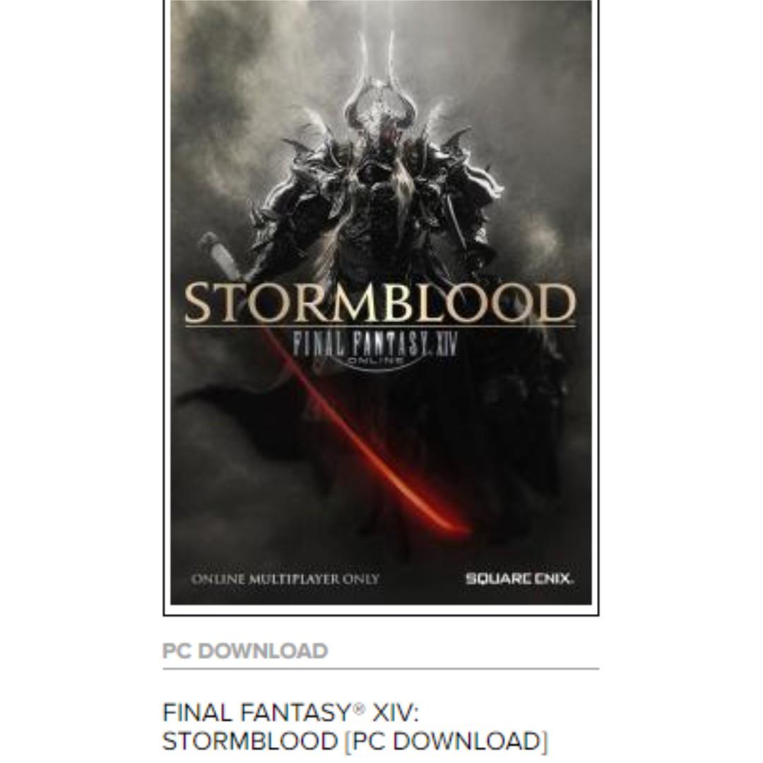 FFXIV Online (Final Fantasy XIV online) Stormblood Expansion (Heavenward  expansion included) For accounts registered under EU Region