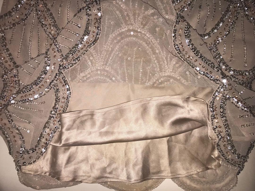 Forever New 1920s Style Sequin Skirt