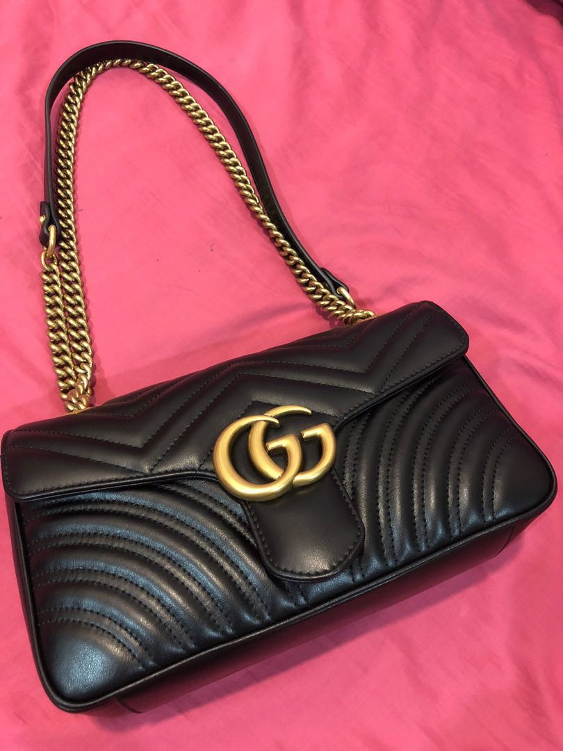 d69093e88dfc Gucci Marmont Matelasse Small 26cm, Women's Fashion, Bags & Wallets ...