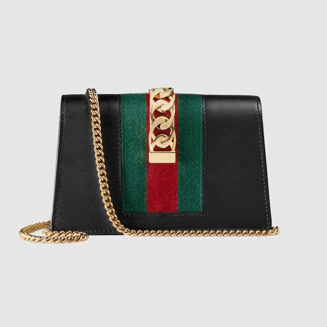 8b7368a070d6 Gucci Sylvie leather super mini bag