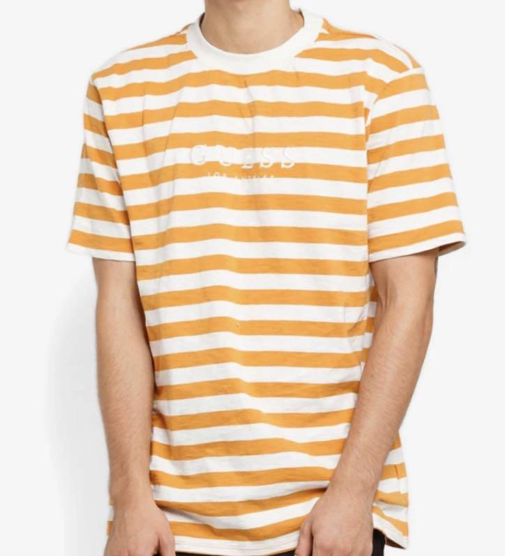 most popular low priced great look Guess originals logo striped tee, Men's Fashion, Clothes ...