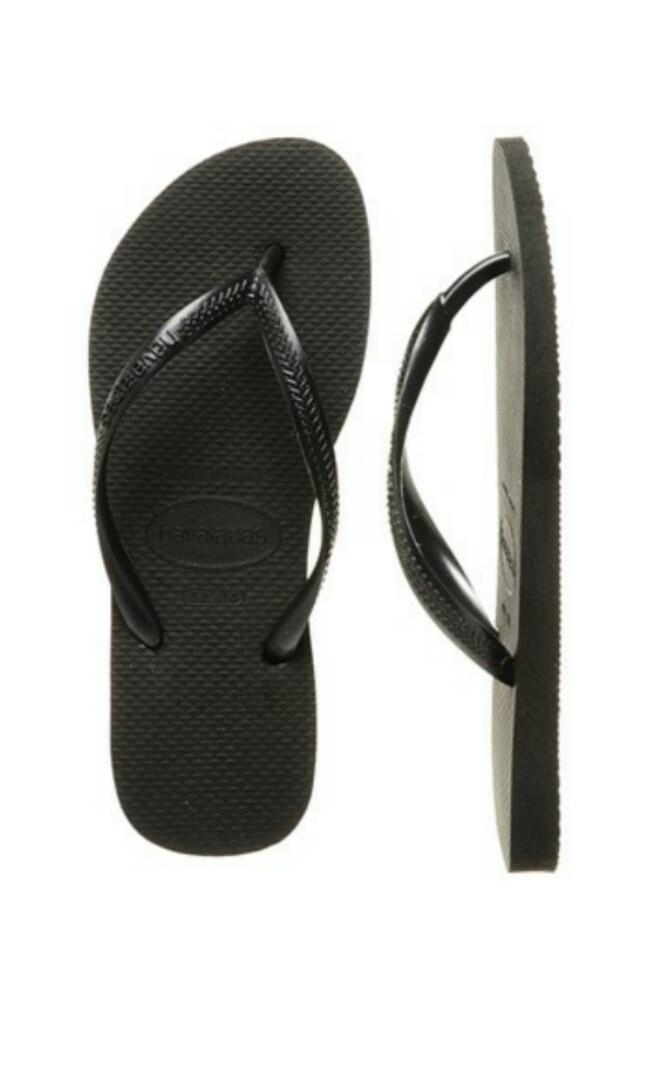 d1d5a81a0 Havaianas black slim thongs  slippers