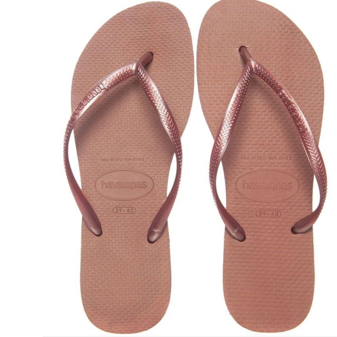 b6d2cd76aa9 Havaianas Nude Bronze Slim Thongs BR 35 36