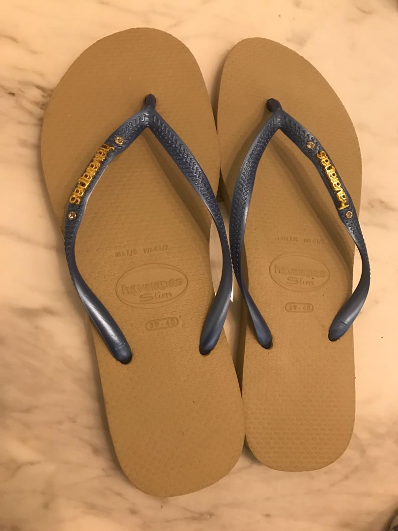 586d5da4c Havaianas slim metallic Logo with crystal Flip Flops  slippers ...