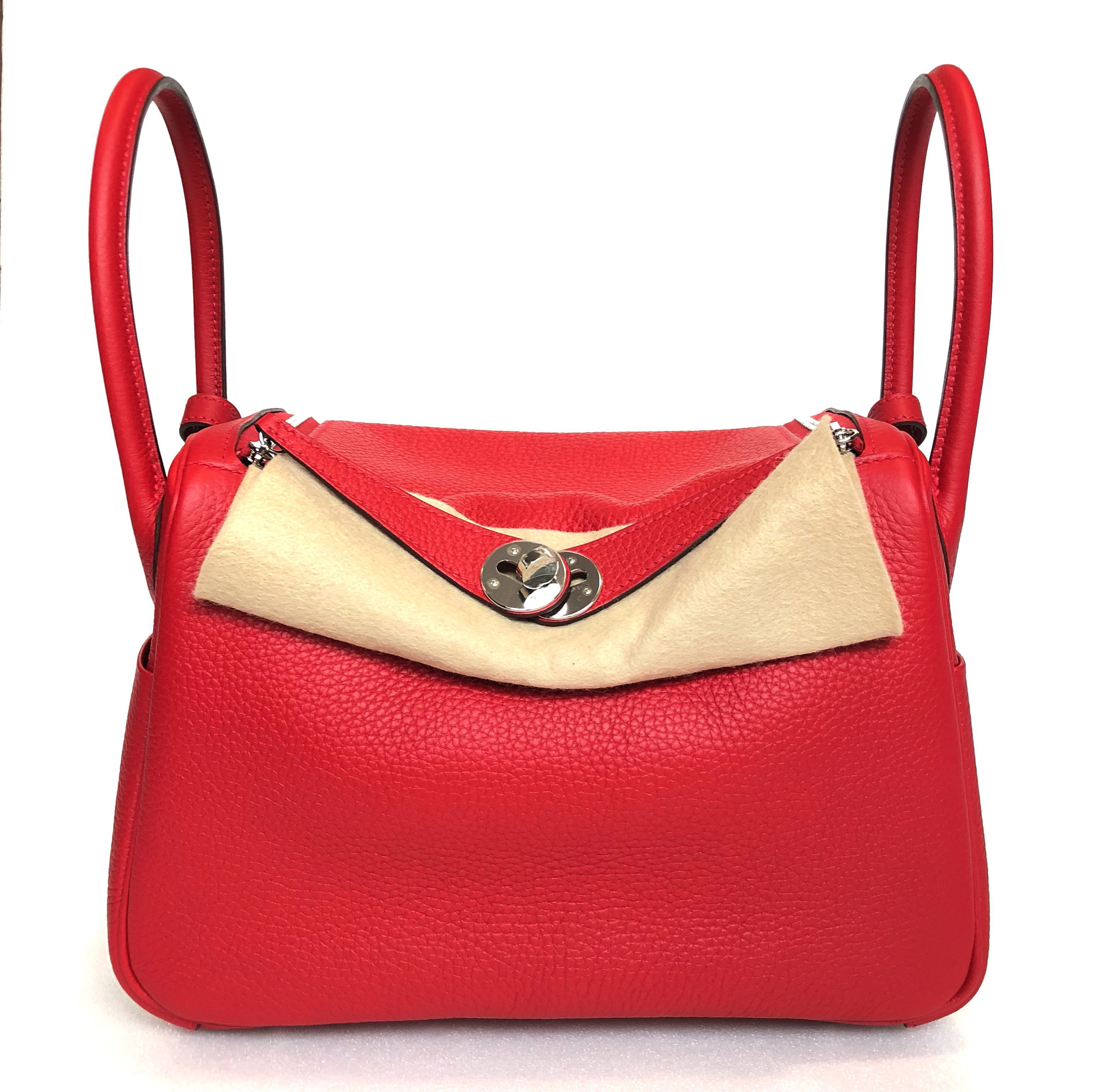 2d4d35ba34 Hermes - Rouge Casaque Lindy 26 in Taurillon Clémence with PHW ...