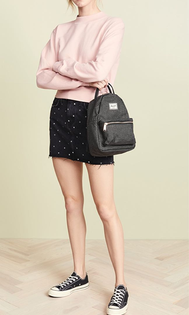 e92a38b827e Herschel Nova Mini Backpack in Black Crosshatch