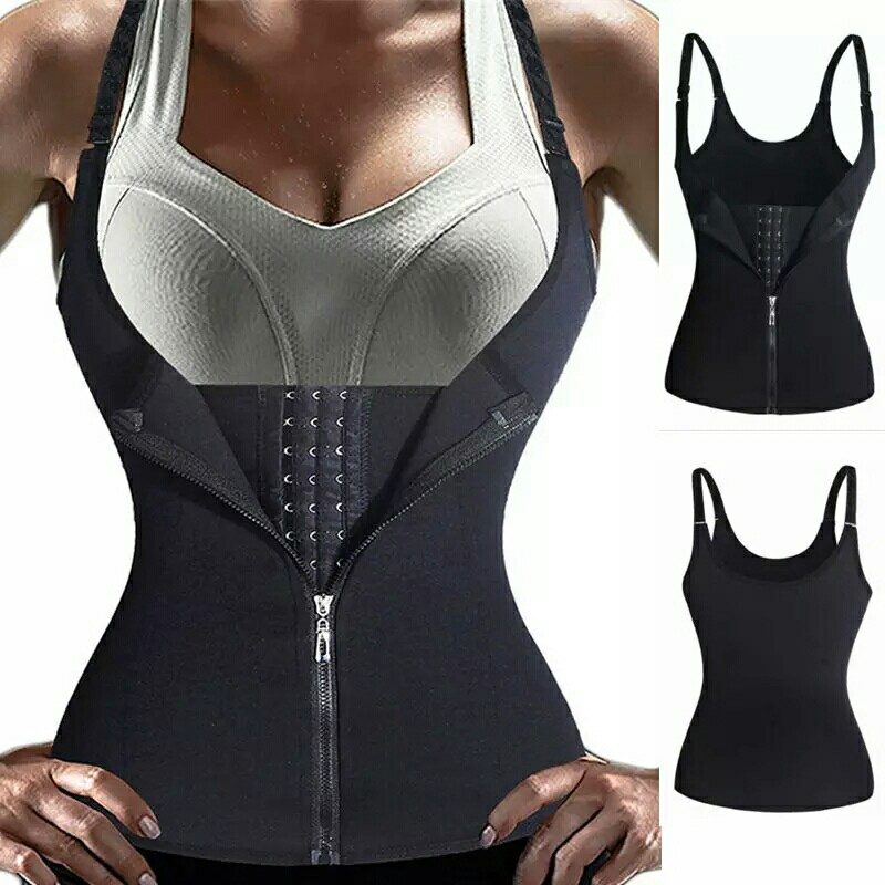 bed8e6e5208 Hot Shapers Neoprene Sauna Sweat Vest Waist Trainer Cincher Women ...