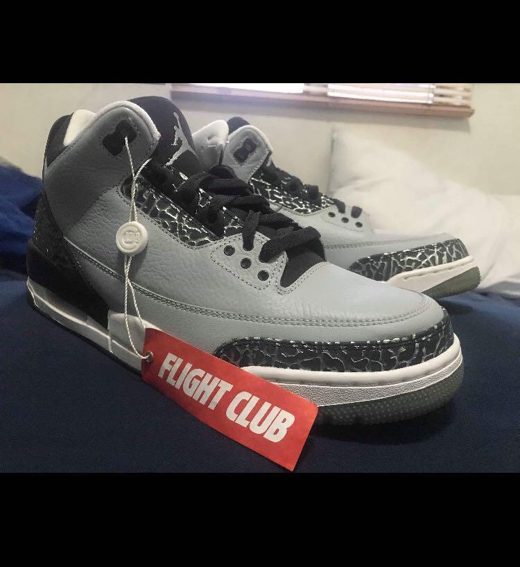new style c8663 23e15 Jordan 3 Wolf Grey on Carousell