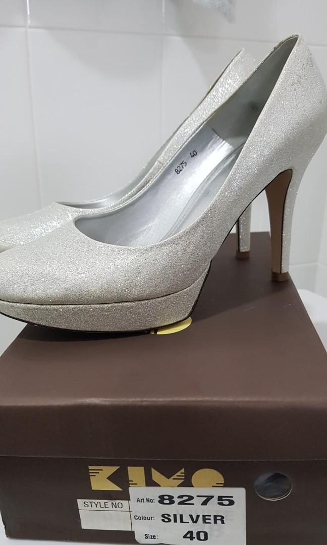 7c72d6c7b KIYO Silver glitter heel, Women's Fashion, Shoes, Heels on Carousell
