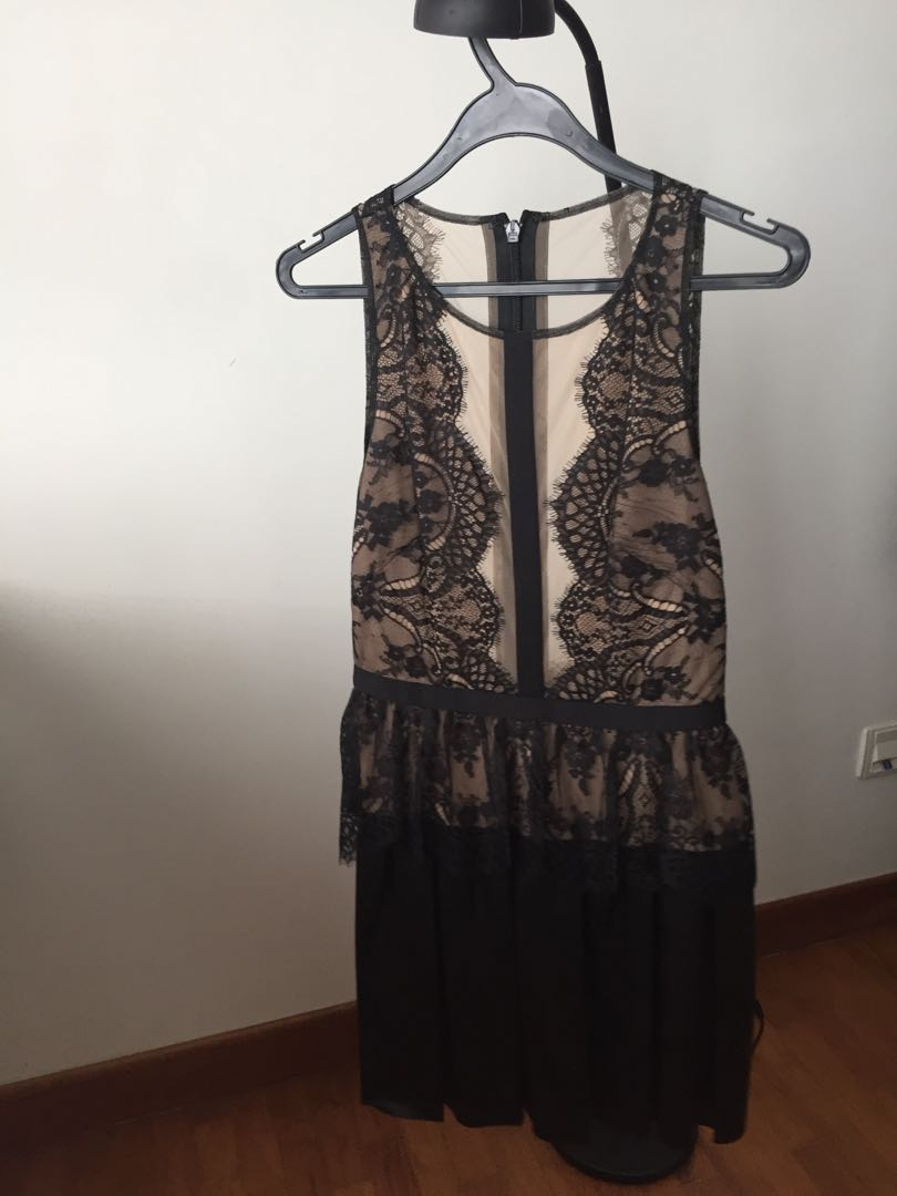 418c3c41266 Layton lace dress with leather skirt