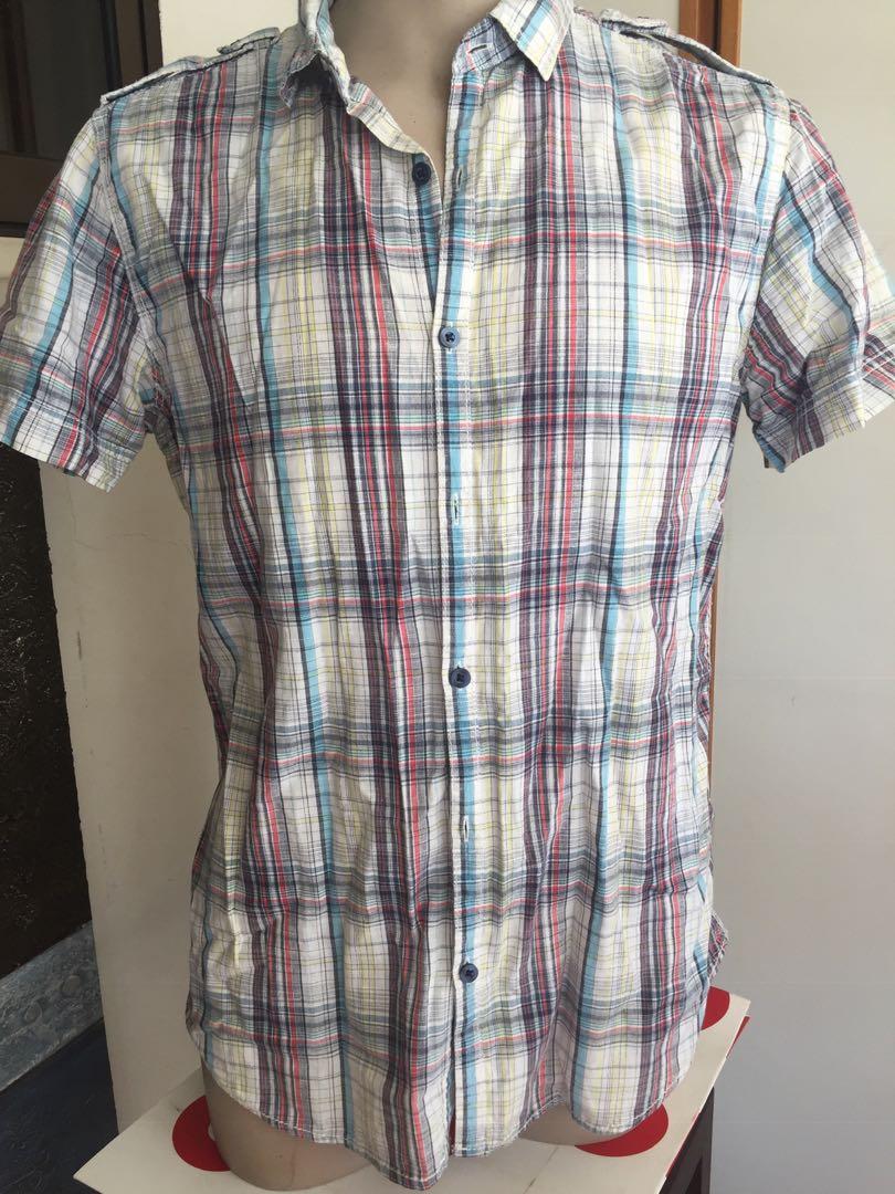 a780dbe6 Levis Signature Western Cowboy / Denizen Shirt Sz L/XL $55@, Men's Fashion,  Clothes, Tops on Carousell