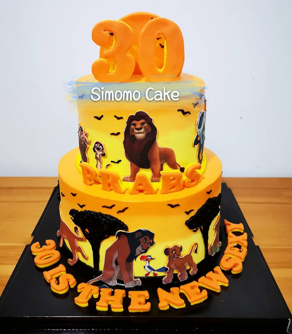 Lion King cake (FREE DELIVERY), Food & Drinks, Baked Goods on Carousell