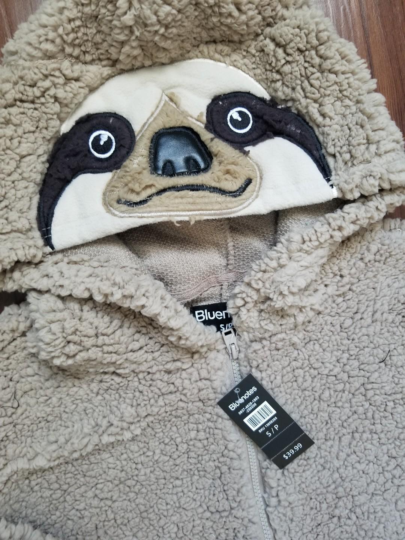 New adult sloth onesie